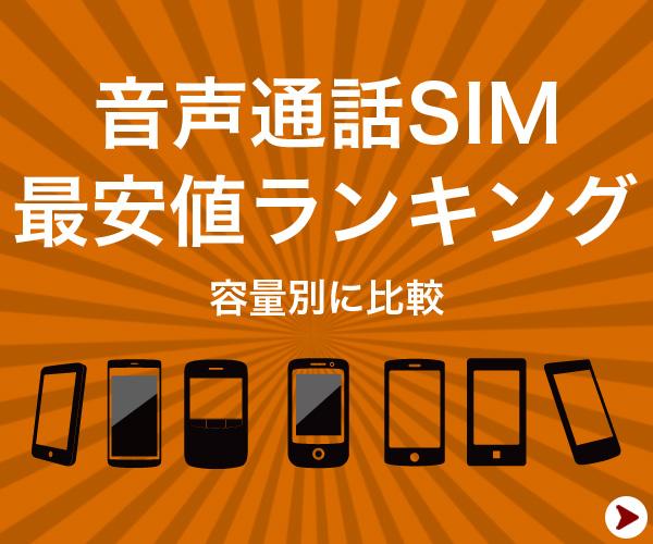 音声通話SIM 最安値ランキング 容量別に比較