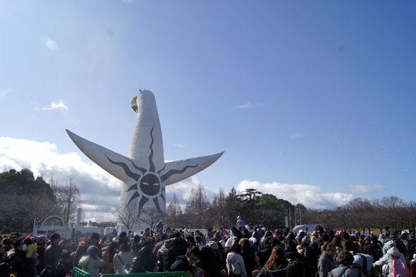 万博記念公園の雪まつり
