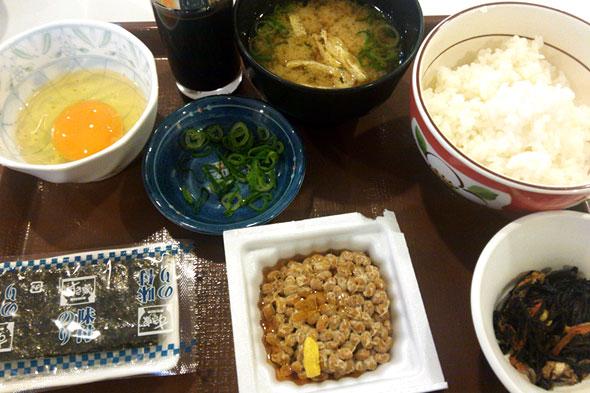 すき家の納豆朝食