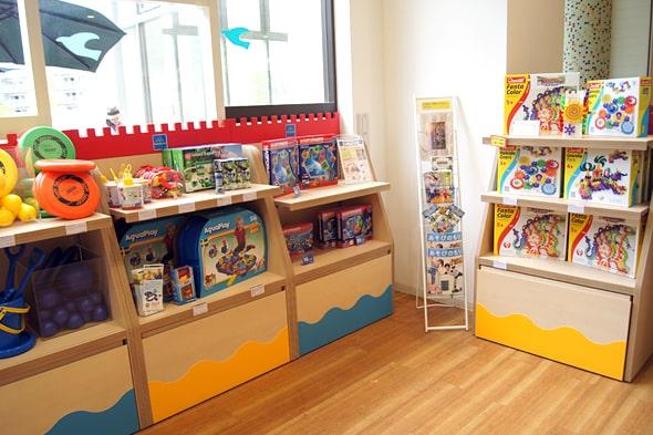 おもちゃの販売スペース
