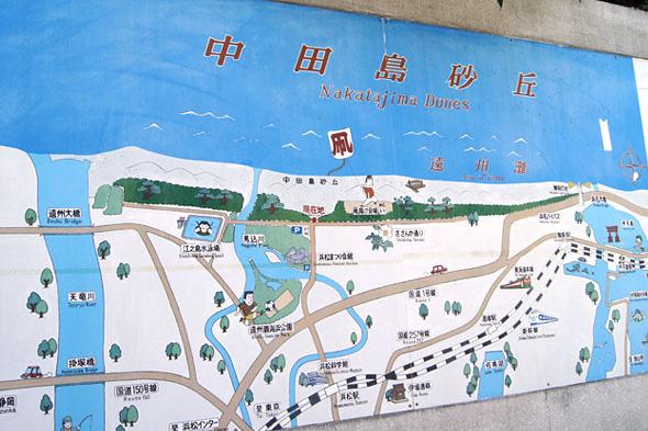 中田島砂丘のマップ