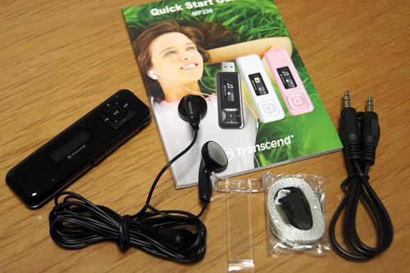 Transcend MP3プレーヤー MP330 8GB ブラック TS8GMP330K