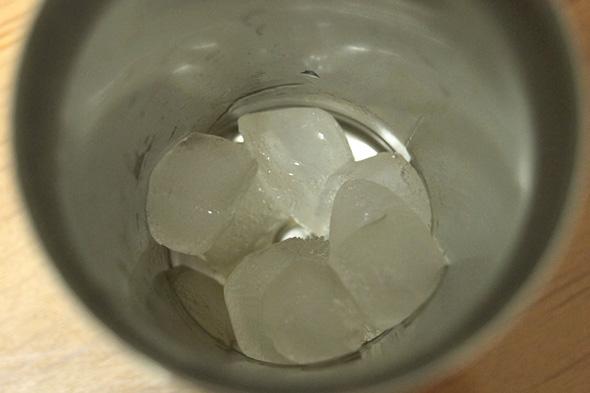3時間たった氷