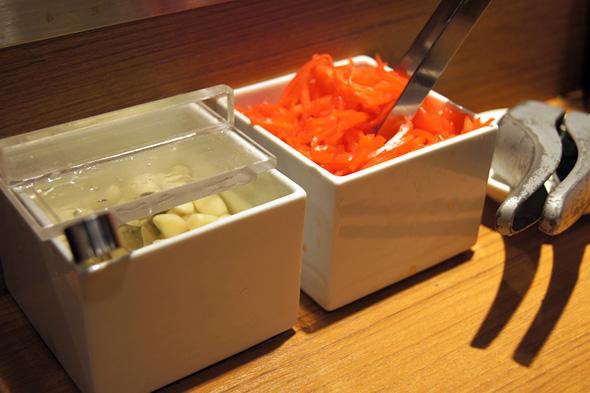 ニンニクと紅生姜