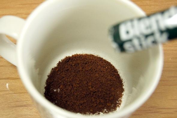パウダー状のコーヒー