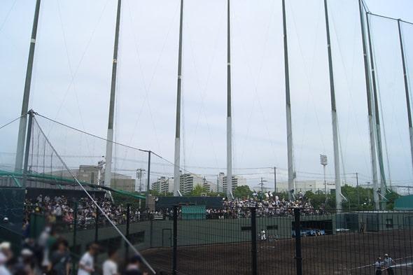 阪神鳴尾浜球場のスタンド