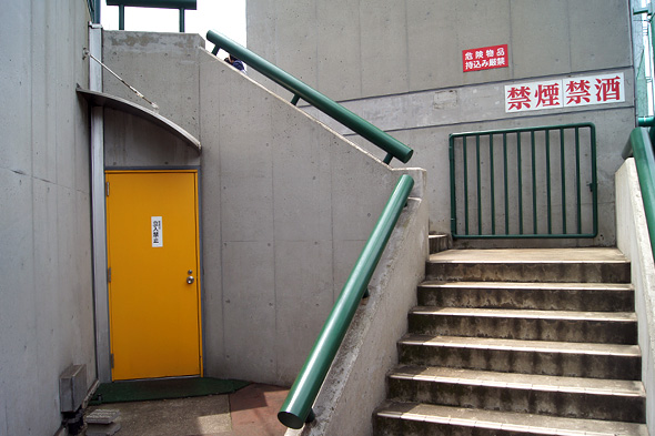 スタンドへと続く階段