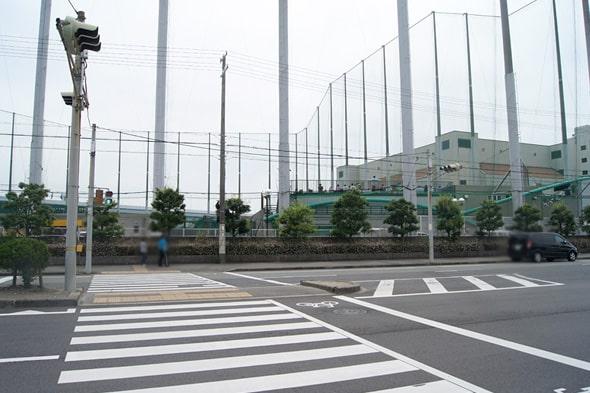 阪神鳴尾浜球場のネット
