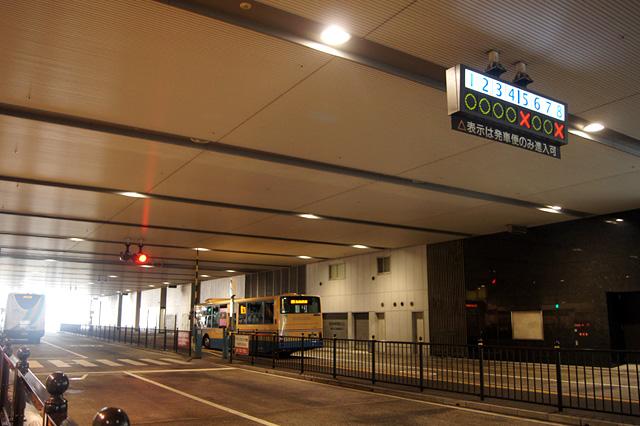 大阪駅のバスターミナル