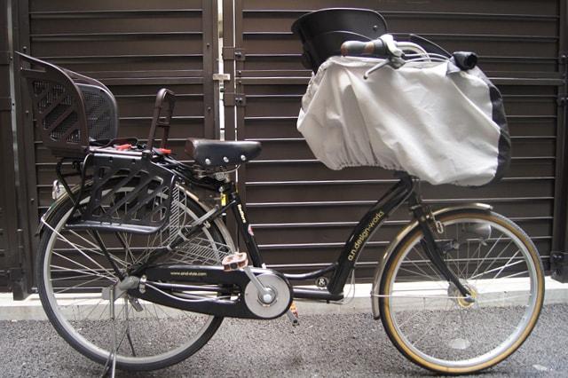 子供乗せ自転車のレインカバー