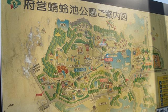 蜻蛉池公園の案内図