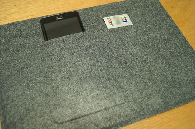 背面の2つの収納ポケット