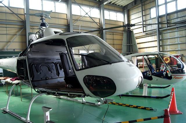 ヘリコプターの整備