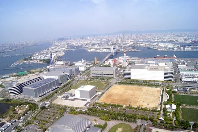 大阪でのヘリコプターの遊覧飛行