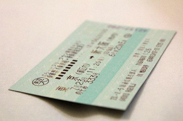 新幹線のチケット