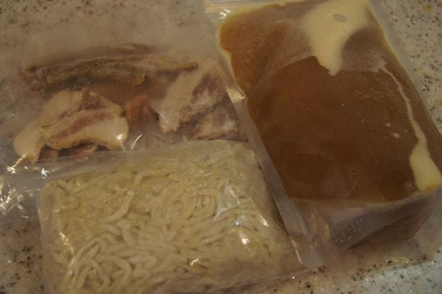 麺、スープ、具材