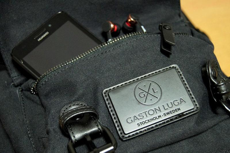 ジッパー付きの外側ポケット