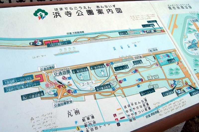 浜寺公園の地図