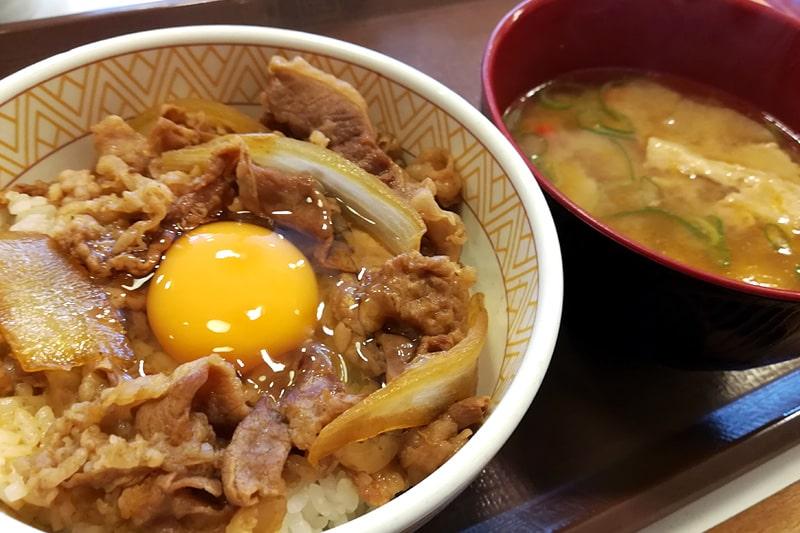 すき家の牛丼と豚汁
