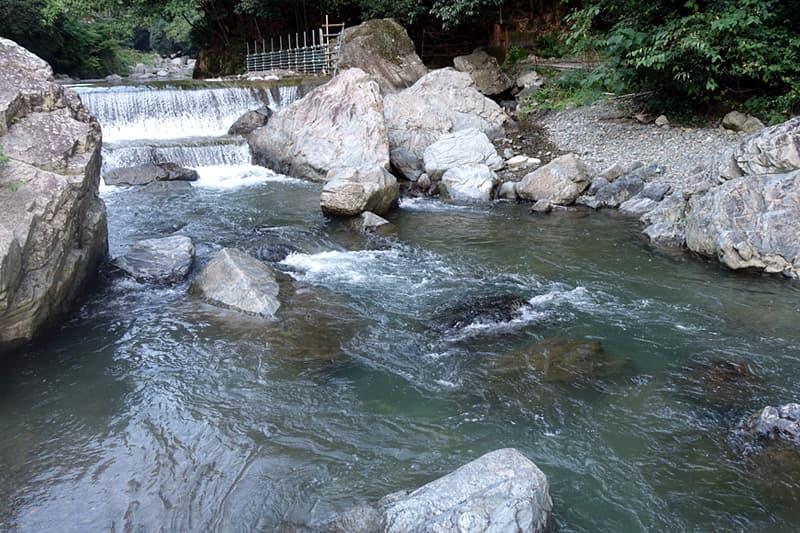 水の流れがある水場