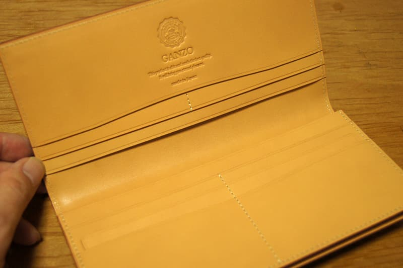 GANZOコードバン長財布 中面
