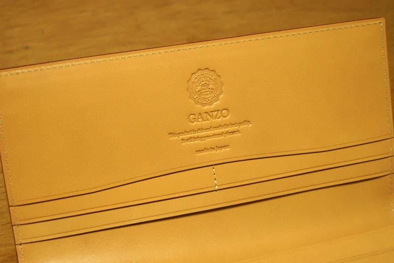 GANZOコードバン長財布 ロゴ