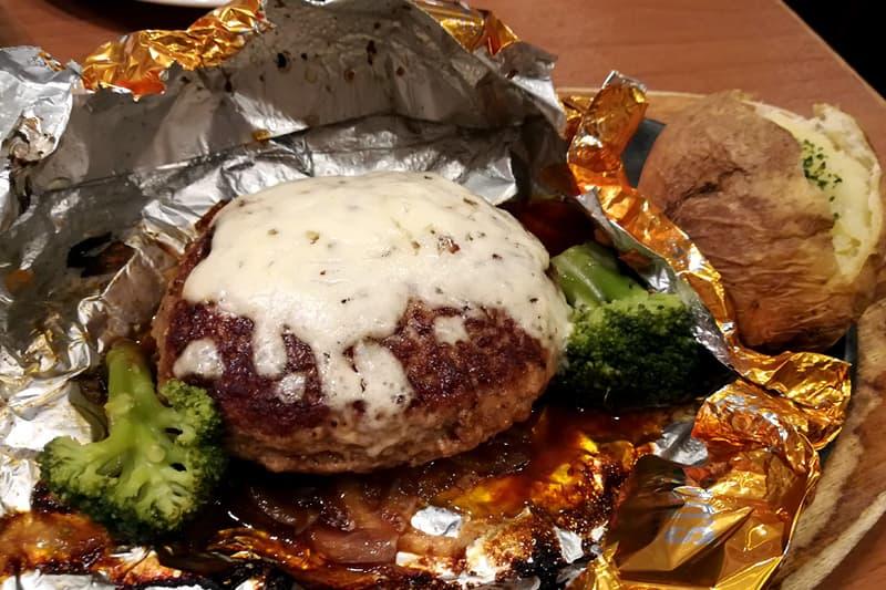 6種チーズの包み焼きハンバーグ