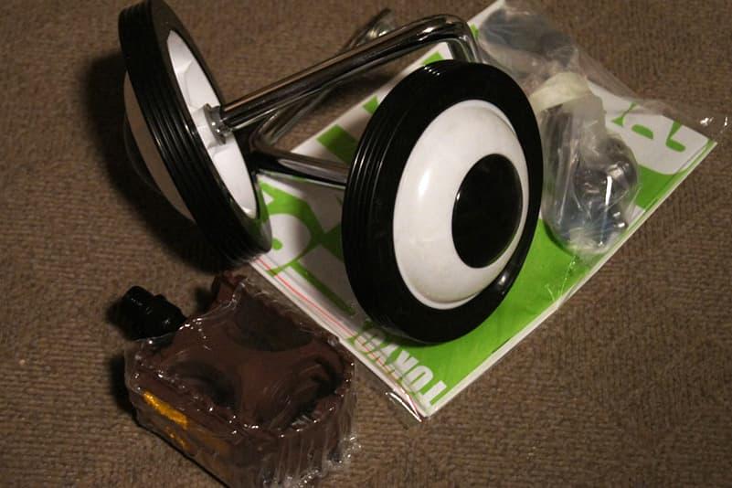 補助輪やサドル
