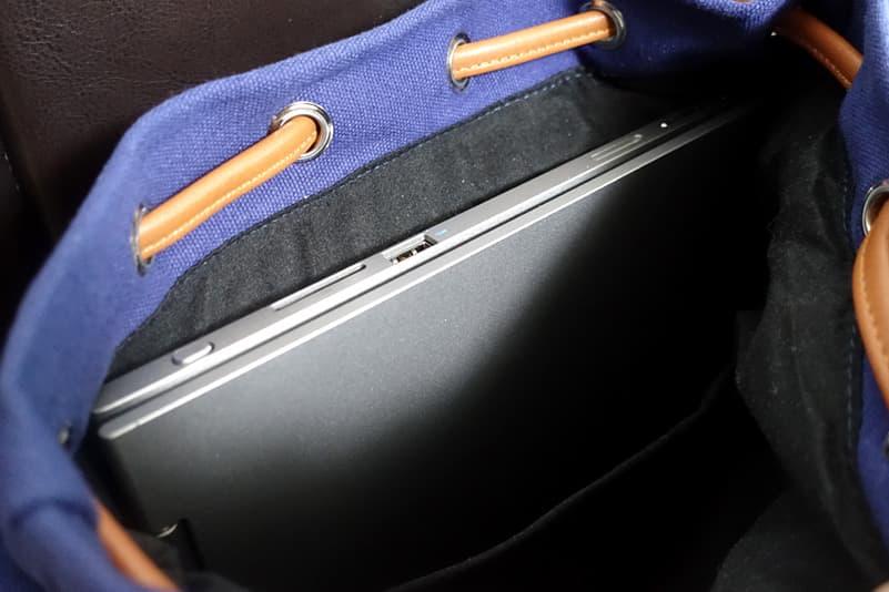 ノートパソコンを収納できるポケット