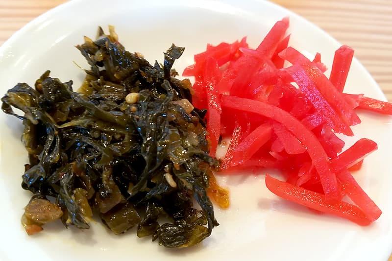 高菜と紅ショウガ