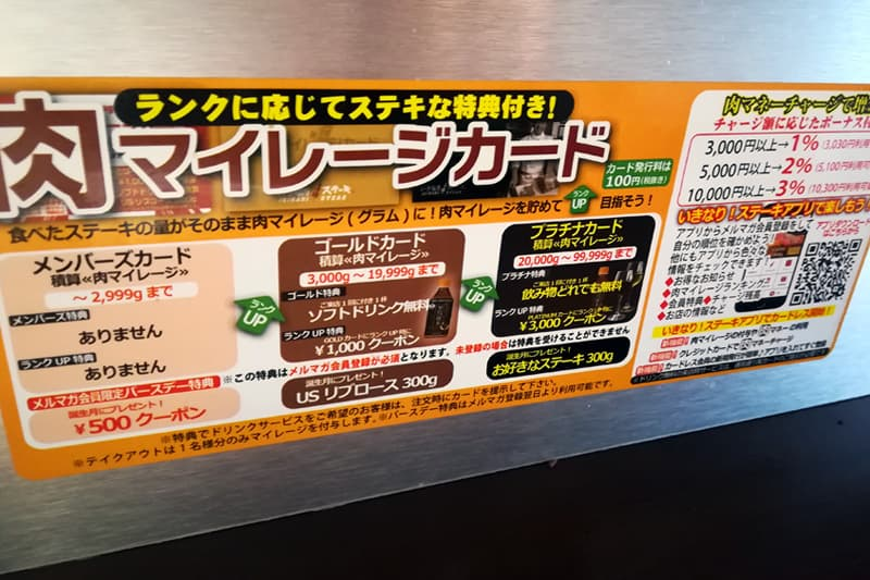 肉マイレージカード