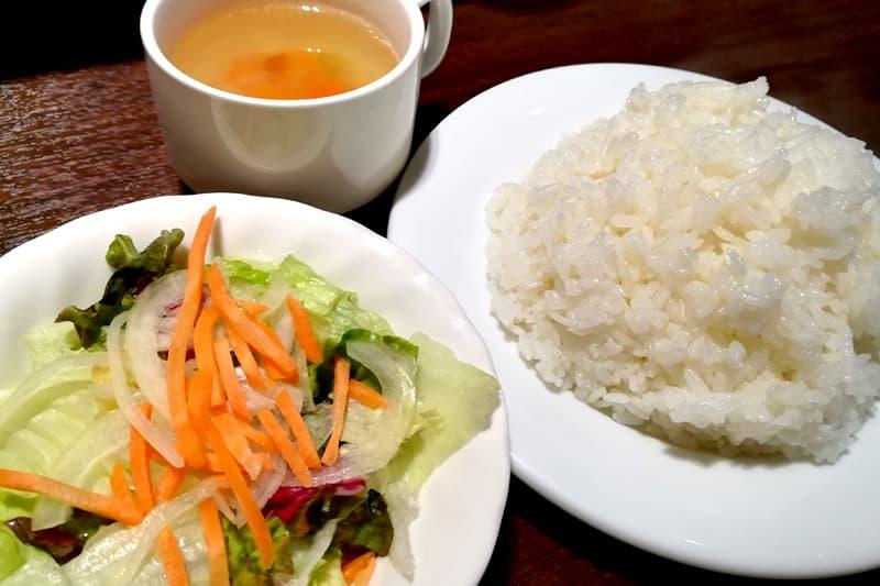 ライス・サラダ・スープ