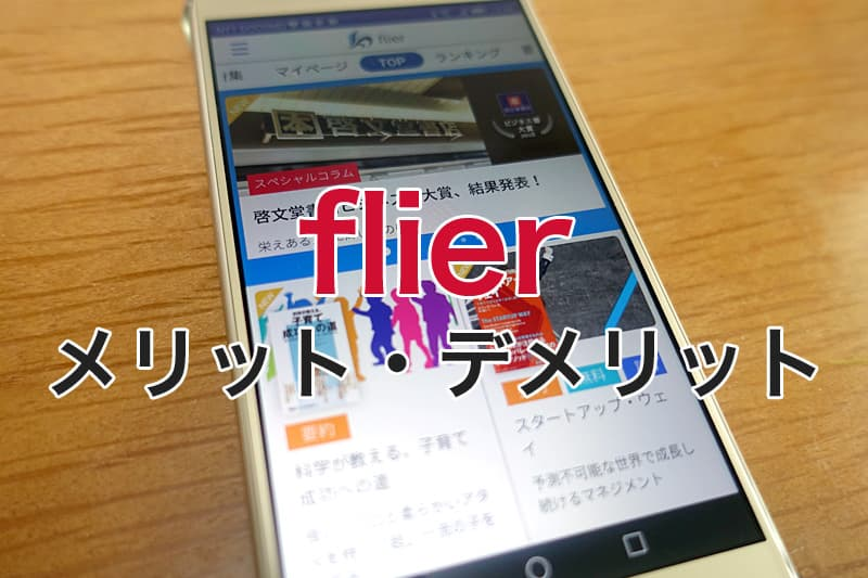 flier メリットとデメリット
