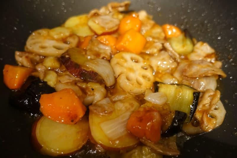 ミールキット豚肉と根菜の甘酢炒め