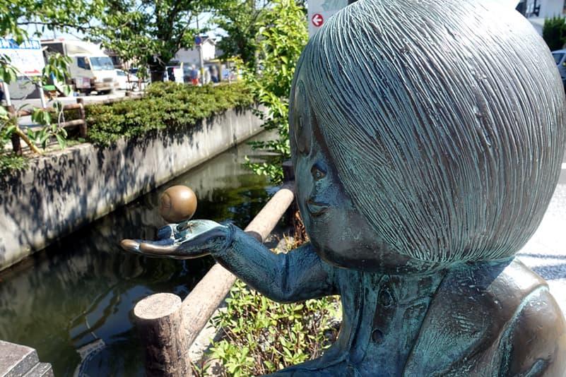 ゲゲゲの鬼太郎と目玉おやじの妖怪ブロンズ像