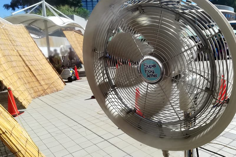ミスト扇風機