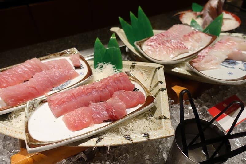 鯛とまぐろの刺身
