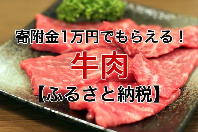 寄附金1万円~もらえる 牛肉 ふるさと納税