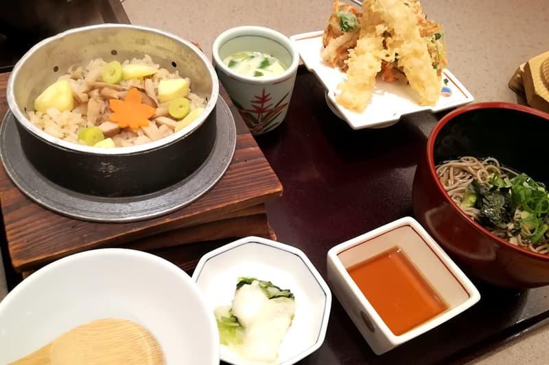 松茸と栗の釜めし和膳