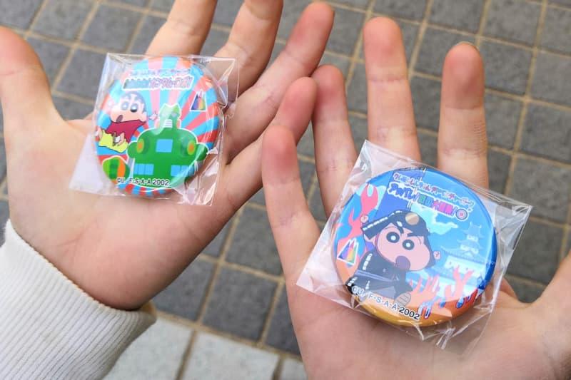 クレヨンしんちゃんの缶バッチ