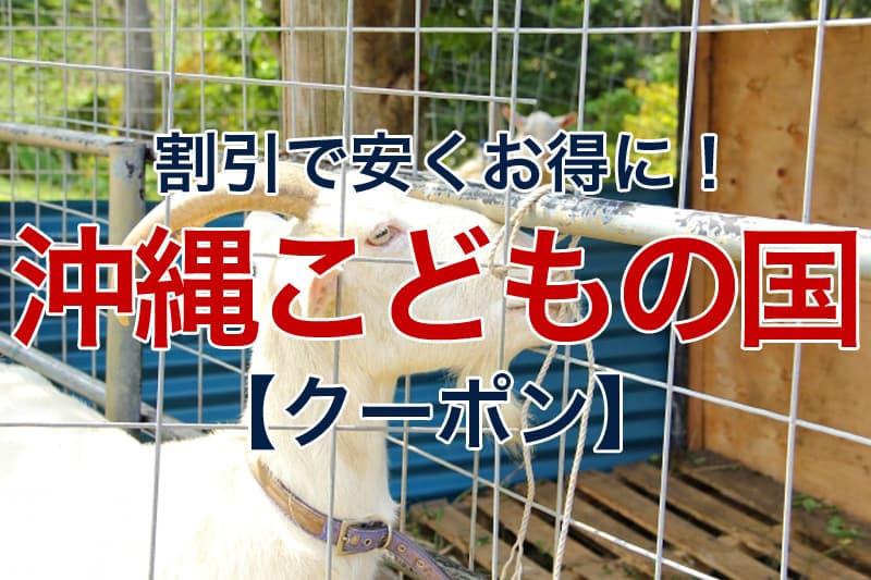 割引で安くお得に 沖縄こどもの国 クーポン