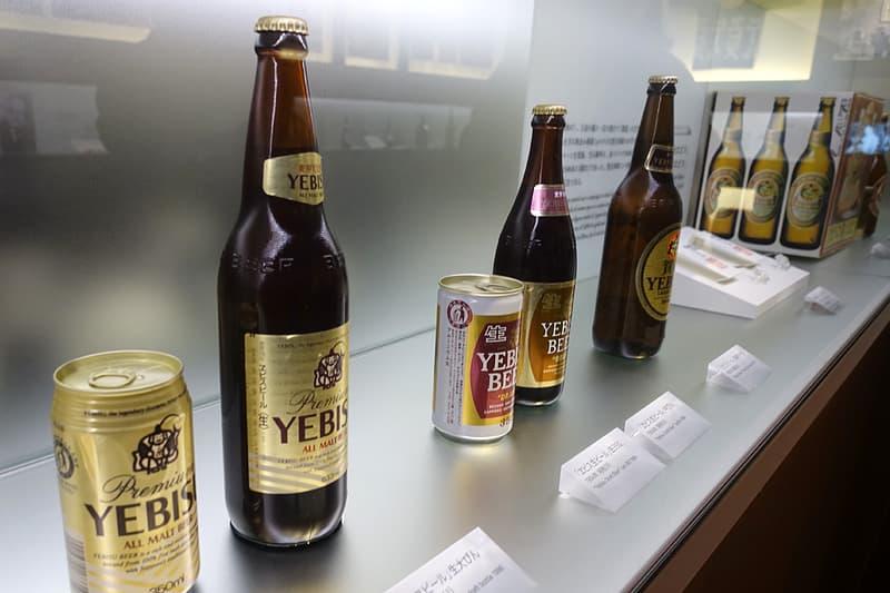 エビスビールの瓶や缶