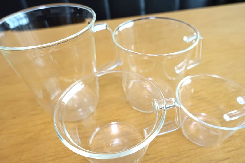 KINTOの耐熱ガラスカップ