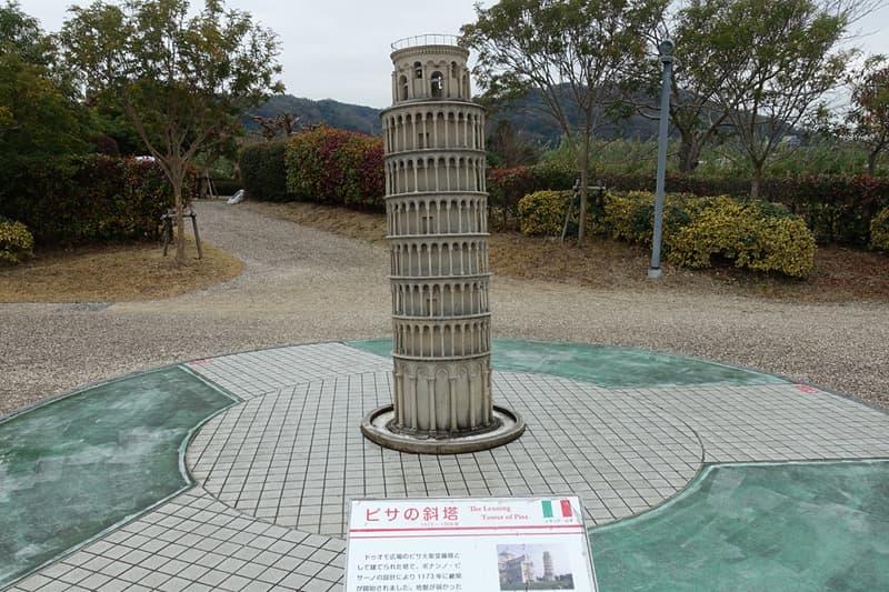 ミニチュアワールドのピサの斜塔