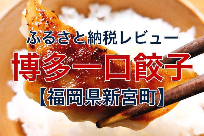 ふるさと納税レビュー 博多一口餃子 福岡県新宮町