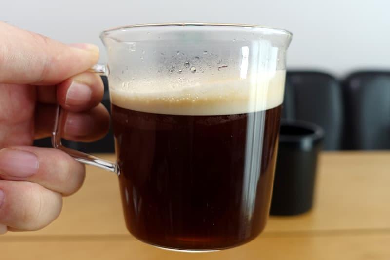 ドルチェグストで入れたコーヒー