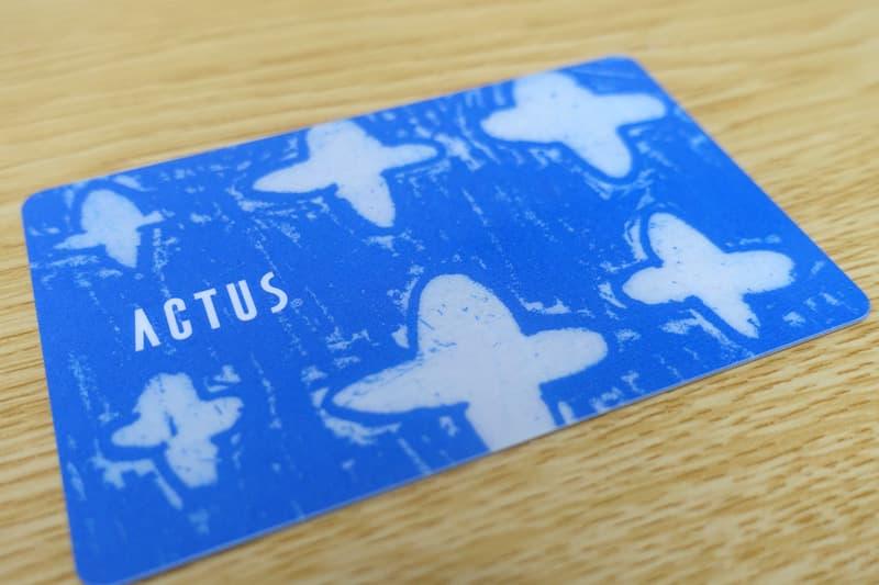 アクタスポイントカード