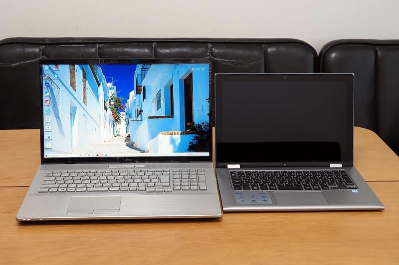 17.3型と13.3型のノートパソコン