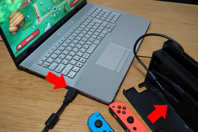 Nintendo Switchと接続