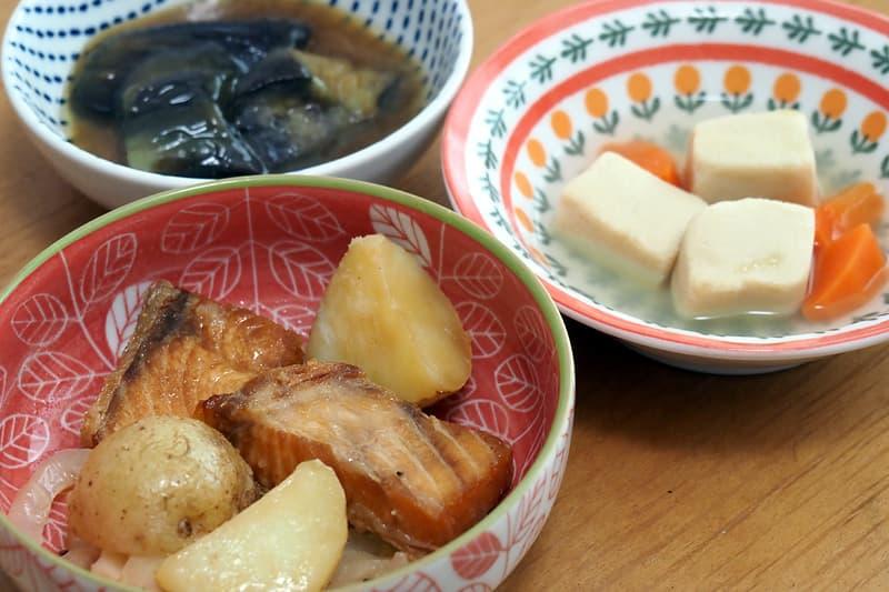 北海道鮭じゃが芋の炒め物